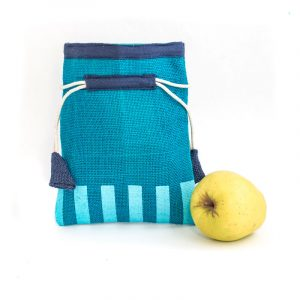 Jutový dárkový sáček tyrkysový a modrý