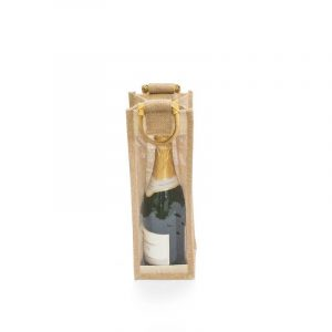 Dárková vinná taška na jednu lahev vína s plastovým oknem