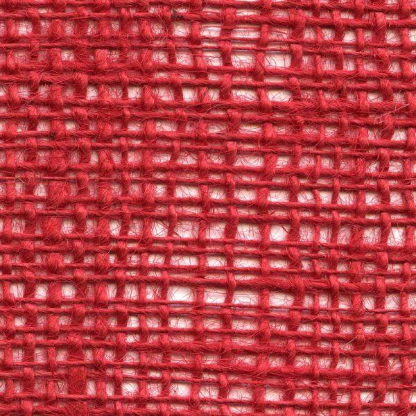Jutová tkanina červená o gramáži 211 g/m2