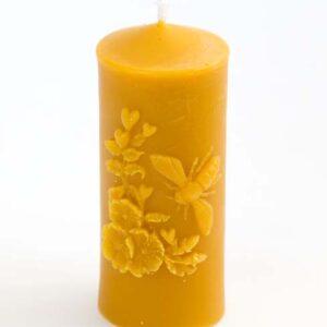 Svíčka XL včelka ze 100% včelího vosku, 12 cm